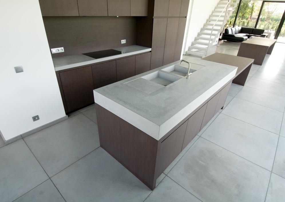 Beton In Keuken : Betonnen keukenbladen op maat betonal